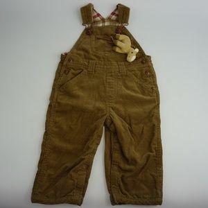 Gymboree BoysBeige Corduroy Jeans Pants Jumpsuit